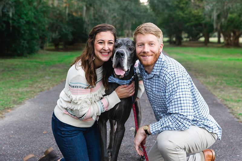 dogs are family, including dog in family portraits   ©Charleston Photo Art