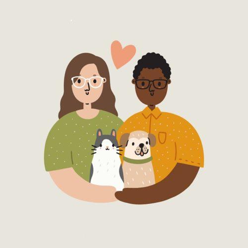 Gift Idea:  Family Portrait from Courtney Ahn Design