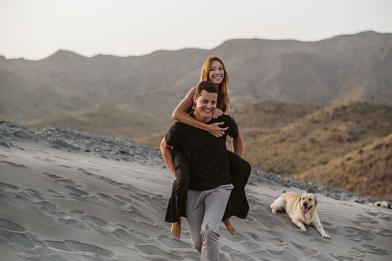 dog-friendly photoshoot, Cabo de Gata, Spain | ©Blancorazon Weddings